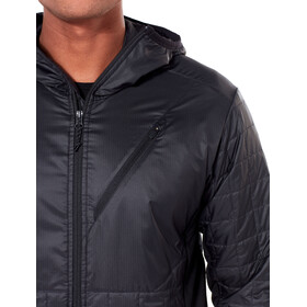 Icebreaker Helix LS Zip Hood Jacket Herr black/jet heather
